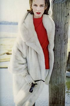 Vintage mink coat. Photo Eugene Vernier 1962 Model Judy Dent