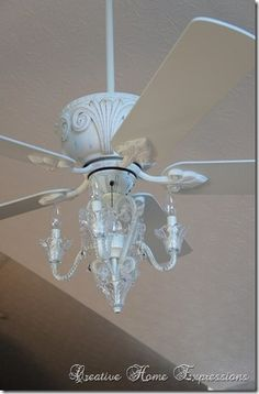 Ceiling Fan With Chandelier, I Would Love To Have Something Like This For  Over My