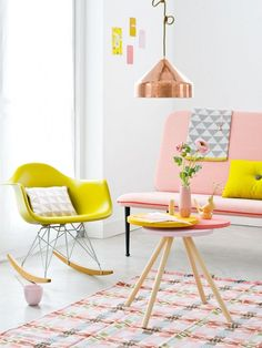 Interior design pastel coloured home living room decor inspirational idea Frosta Ikea, Color Inspiration, Interior Inspiration, Interior Pastel, Bohemian Interior, Luxury Interior, Interior Shop, Yellow Interior, Brown Interior