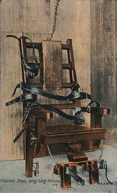 Electric chair at Sing Sing.
