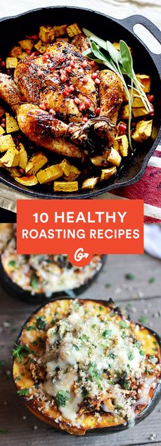10 Healthy Roasted Recipes from Around the Web #Healthy #Roasting #Recipes http://greatist.com/health/best-healthy-roasting-recipes-110413