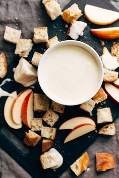 Cheese Fondue - all you need is garlic, wine, cornstarch, and cheese! So versatile and perfect for the holidays. Sponsored by @SargentoCheese | http://pinchofyum.com