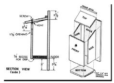 Eastern Bluebird House Plans | Plans for Bluebird Nesting Boxes Use ...