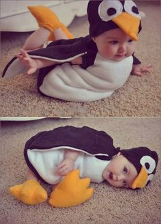 Baby im Pinguin Kostüm … Baby in Penguin Costume Funky Baby Clothes, Fall Clothes, Dress Clothes, Dress Shoes, Shoes Heels, Cute Kids, Cute Babies, Pretty Kids, Halloween Bebes