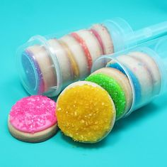 Layered cookies in a push up pop would make for a great children's party favor
