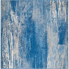 Adirondack Silver/Blue 6 ft. x 6 ft. Square Area Rug