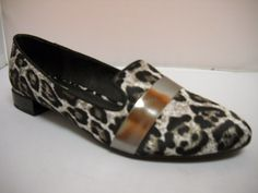 Nude Caspian - B - Nude Caspian smart casual flat in Animal print and metallic features.  Available in Smoke Leopard, Black and White and Nude Multi.  Price  149 NZ$ Smart Casual, Summer Shoes, Metallic, Spring Summer, Loafers, Nude, Smoke, Flats, Animal