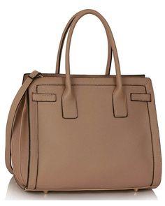 Leather Nude Grab Tote Handbag For Ladies Online in Pakistan #ToteBags #ShoulderBags #Fashion #Pakistan