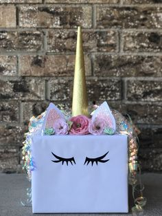 Unicorn Valentines Box. Homemade Unicorn Valentines Box. Valentine Kids Crafts