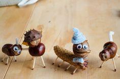 DIY: chestnut creatures