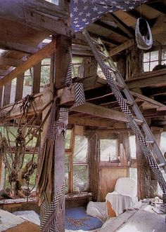 Second to living in a treehouse or cabin - a tree house or cabin that looks like a pirate ship!