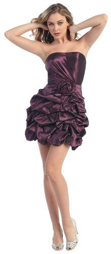 Strapless Flower Pick-up Formal Bridesmaid Prom Dress #2689 « Dress Adds Everyday