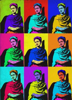 Frida Kahlo Pop Art - Andrea Morillo 2012 Diego Rivera, Andy Warhol, Kahlo Paintings, Frida And Diego, Pop Art Design, Art Designs, Mexican Artists, Art Google, Modern Art