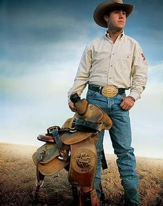 A cowboy and his saddle