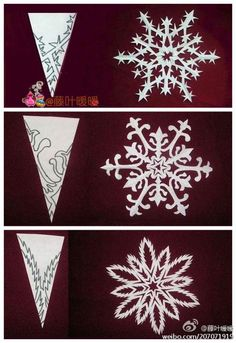 intricate patterns for snowflakes (no link)