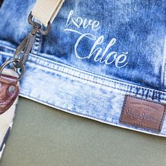 Detail of customised denim jacket by blogger Barbara Crespo in our #PepeJeansCustomStudio