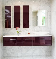 salle de bains aubergine brillant fabrimeuble - Meuble Salle De Bain Aubergine