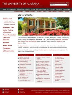 Visitors Center http://careers.ua.edu