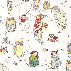 Spotted Owl  Alexander Henry  Fabric 6 yards by Sweetbobbinsfabric, $52.50