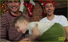 Matt Dallas & Husband Blue Hamilton with their son, Crow.