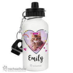 Personalised Rachael Hale Drinks Bottle - Cute Cat
