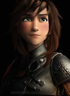 Genderbent Hiccup looks like a green eyes Kora! Wow...still not sure what I think of this...It's awesome though!