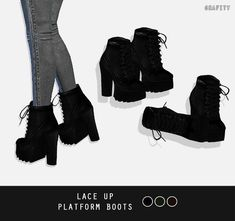 Lace Up Platform Boots by grafity