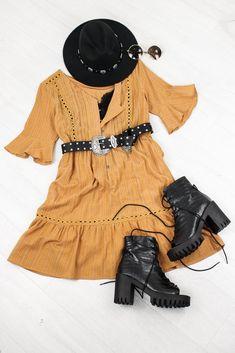 Cold Desert Tan Tea Dress Cold Deserts, Longline Cardigan, Boyfriend Shirt, Swing Dress, Boho Dress, Boho Fashion, Vintage Inspired, Summer Dresses, Tea