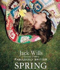 The #JackWills Fabulously British New Spring Collection #GREENSHOOTS.  This picture summarizes everything The Collection transmits.   Love, youth, happiness, spring, love, life, color, freedom, growing up, beauty, style, innocence.