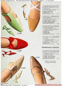 1967 Sears Spring Summer Catalog, Page 302 - Christmas Catalogs & Holiday Wishbooks Sixties Fashion, Mod Fashion, Vintage Fashion, Vintage 1950s Dresses, Vintage Shoes, Vintage Ads, 1960s Outfits, Vintage Outfits, Old Shoes