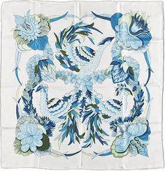Pañuelos de seda de Hermès.