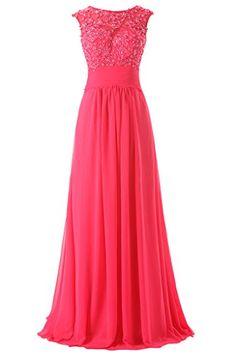 JAEDEN Women's Long Formal Chiffon Prom Evening Dresses Wedding Party Dress Hot Pink US24W JAEDEN http://www.amazon.com/dp/B00ZOWVHRY/ref=cm_sw_r_pi_dp_gerIvb1QHRYD1