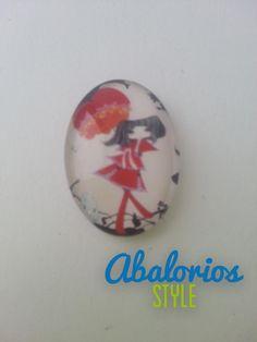 Cabuchon Chica en rojo (CB093)