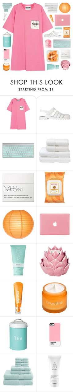 """""""CRAZY COLOR SCHEME HAHA!"""" by emmas-fashion-diary ❤ liked on Polyvore featuring Moschino, JuJu, Shay, Christy, NARS Cosmetics, Burt's Bees, Cultural Intrigue, KORA Organics by Miranda Kerr, Zara Home and Clinique"""