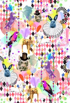 Mia Overgaard pattern illustration animals zoo colors Traffic NYC.