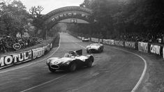 Lesser-known than the popular E-Type, the streamlined structure and breathtaking looks of the D-Type make it Jaguar's true masterpiece, writes Jonathan Glancey. Sports Car Racing, Road Racing, Race Cars, Auto Racing, Jaguar Type, Jaguar Cars, Jaguar Xk, Le Mans 24, Classy Cars