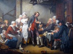 The Village Bride (slightly cropped) 1761 by French Painter Jean-Baptiste Greuze 1725-1805