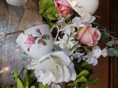 Tea cup wreath - Beautiful!