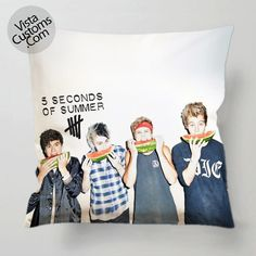 5 Seconds Of Summer Collage water melon pillow case, cover ( 1 or 2 Side Print With Size 16, 18, 20, 26, 30, 36 inch )