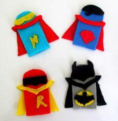 Love City: Super Hero Craft Week { super hero felt finger puppets }                                                                                                                                                     More