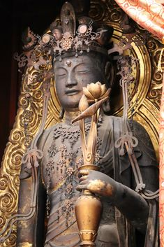 Japanese Buddhism, Guanyin, Buddhist Art, Buddha, Statue, Twitter, Buddha Art, Sculptures, Sculpture