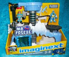 Imaginext DC Super Friends Exclusive Playset MR. FREEZE Headquarters (age: 3 years and up) by Fisher-Price. $62.00. Imagine a world of action and excitement where you decide what happens next! This time, it brrrrings you to the icy headquarters of Mr. Freeze with Arctic Batman Whatever world you travel to, its a whole new adventure every time you play!. Imagine a world of action and excitement where you decide what happens next! This time, it brrrrings you to the i...