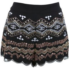 Miss Selfridge Embellished Knicker Short ($84) ❤ liked on Polyvore