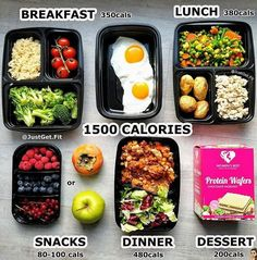 We are kicking off the week with a little#FoodDiary inspiration from @JustGet.Fit! Comment belowwith what meals you packed for today! _ 1500 calorie meal plan breakdown for my more petite babes who like to include tasty treats like @womensbest protein wafers on the daily. . Brekkie: 2 eggs 100g cooked brown rice broccoli (my inner Asian needed post workout rice) Lunch: 130g cooked ground chicken breast 200g mixed veggies 100g roasted potatoes Dinner: Slow cooker chicken chili with green…