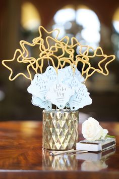 Wave the bride and groom goodbye with star-shaped sparklers that are sure to dazzle. To make them yourself, follow Courtney Sixx of How2Girl's instructions here.