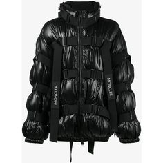 Moncler C Moncler C x Craig Green kabal strap jacket ($2,070) ❤ liked on Polyvore featuring men's fashion, men's clothing, men's outerwear, men's jackets, mens oversized denim jacket, mens fur lined hooded jacket, moncler mens jacket, mens hooded puffer jacket and mens shell jacket