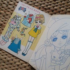 | Kawaii Vintage Paper Doll. Japanese