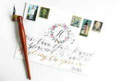 Beautiful Watercolor Envelope | The Postman's Knock