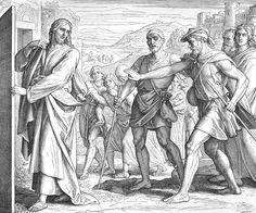 Bilder der Bibel - Jesus und die beiden Blinden - Julius Schnorr von Carolsfeld