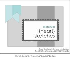 The random $5 Gift Certificate winner from Sketch#040  is: #6 Mel C!!!  Congratulations! i {heart} sketches Sketch041     Sketch041– This week's shape is an A2 card turned sideways, but feel free to adapt it to any shape or size. Remember, have fun with it–flip it, turn it, embellish as you wish. Use any stamps and supplies from any company.…
